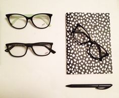 Frame your eyes with all-black eyeglasses. WE5157 WE5124 WE5144. #eyeglasses #black #outfit
