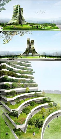 Image 6 of 8 from gallery of Vo Trong Nghia Proposes Green City Hall for Bac Ninh City. Courtesy of Vo Trong Nghia Architects Architecture Durable, Architecture Antique, Futuristic Architecture, Sustainable Architecture, Amazing Architecture, Landscape Architecture, Landscape Design, Architecture Design, Philippine Architecture