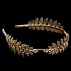 Ancient Greek Hairstyles | Golden Grecian headband