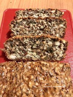 Večerný bielkovinový chlieb – chlieb bez múky – moje malé veľké radosti Banana Bread, Toast, Low Carb, Desserts, Recipes, Food, Tailgate Desserts, Deserts, Recipies