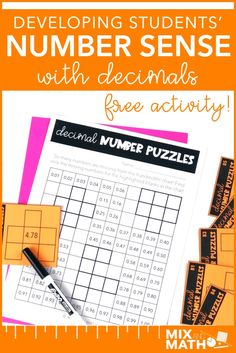 Building Number Sense with Decimals — Mix and Math Student Numbers, Math Numbers, Math Fractions, Multiplication Games, Dividing Fractions, Equivalent Fractions, Math Resources, Math Activities, Math Games