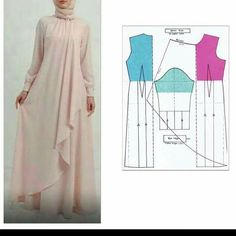 34 Ideas For Sewing Patterns Skirt Easy Source by artiesuharjanto hijab Long Dress Patterns, Skirt Patterns Sewing, Blouse Patterns, Clothing Patterns, Skirt Sewing, Kaftan Pattern, Diy Clothes, Clothes For Women, Abaya Designs