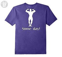 Mens Bodybuilder Some Day Novelty Funny T-shirt Gag Gift 2XL Purple - Funny shirts (*Amazon Partner-Link)