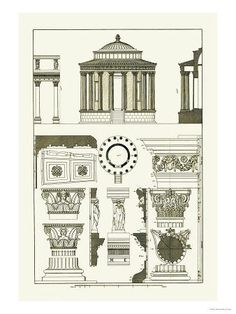 Architecture Drawing Posters 5779742-greek-roman-architecture-elements (440×440) | ddd20022