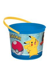 Catch 'em all using this Pokemon Core Favor Container! With a wraparound print of Pikachu, this colorful plastic bucket is essential for toting Pokemon party favors. Pokemon Party Supplies, Kids Party Supplies, Party Favors For Adults, Kid Party Favors, Pokemon Easter Basket, Pokemon Candy, Pokemon Birthday, Pokemon Themed Party, Wholesale Party Supplies