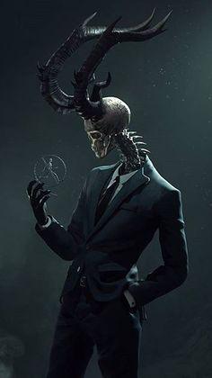 Human-reptile-deer hybrid - painting and such - . - Human-reptile-deer hybrid – painting and such – paint - Fantasy Artwork, Demon Art, Skull Art, Creature Art, Dark Art, Dark Art Drawings, Monster Art, Creepy Art, Dark Fantasy Art