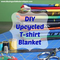 Upcycled T-shirt Blanket | Musings of a Modern Hippie