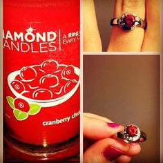 Pretty ring from my diamond candle..Not real, but so my style :)