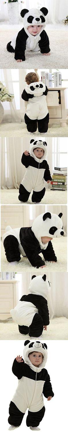 Infant Baby Boys Girls Winter Flannel Panda Bunting Outfits Snowsuit Romper Outwear Coat 12-18 Months Panda