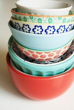 Really, mismatched dishes make more sense for my life. And they're pretty!