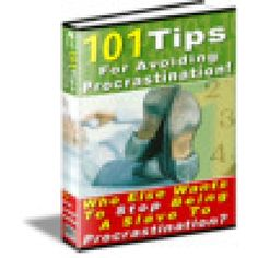 101 Tips For Avoiding Procrastination....step one - pin this...hahaha