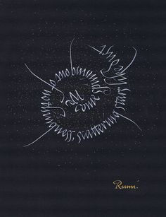 ✍ Sensual Calligraphy Scripts ✍ initials, typography styles and calligraphic art - Rumi spiral   Flickr: Intercambio de fotos