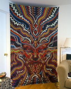 Go down the rabbit hole with this 60x90 inch tapestry. Put on 3D glasses and leap into a whole other dimension! Thin as sheet hippie Indian tapestries from Sunshine Joy Productions. 100��0cotton and built to last. Great for bed spreads, ceilings, wall hangings, flags, etc.