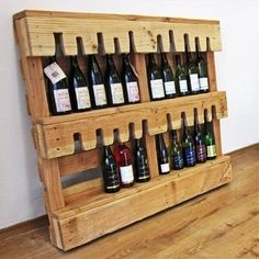 Hurrahhh here an other rocking idea for drinkers who want to add a beautiful wine rack in your bar or lounge you can chose old pallets and make an ow sum wine rack for you with very easy hand crafting and wood work these ideas need just little bit effort.