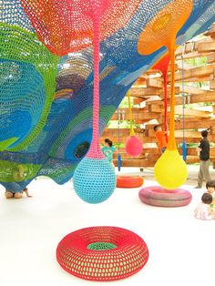parque de diversões de crochê