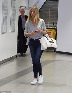Uncoupling: Gwyneth Paltrow touched down in LAX on Wednesday after flying in from Chicago, where she told a business summit she wants to disassociate herself from her own lifestyle brand.