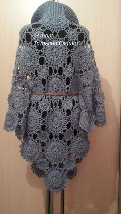 Black Crochet Dress, Crochet Blouse, Love Crochet, Irish Crochet, Crochet Lace, Crochet Shawl Diagram, Crochet Skirt Pattern, Crotchet Patterns, Knitting Paterns