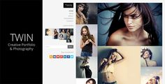 Twin - Creative Portfolio and Photography by SaurabhSharma Twin is a premium WordPress theme designed for Creatives and Photographers. The theme is exclusively crafted to showcase your artw