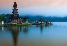 ULUN DANU TEMPLE. This temple on the shores of Lake Bratan is second only to Pura Besakih in significance, but for rice farmers in Bali, this temple is the foremost on the island. Pura Ulun Danu Bratan is the primary temple in the many temples and shrines that punctuate the subak irrigation system popular in Bali. The temple is dedicated to the worship of the goddess of lakes and rivers, Dewi Batari Ulun Danu.