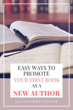 I struggle with self-promotion, but here are a few easy ideas for promoting your first novel as a new author! #writing #selfpublishing #indieauthor #marketing