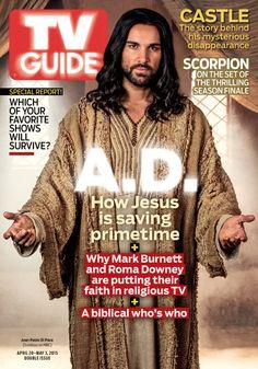 April 20/April 27, 2015. Juan Pablo Di Pace of A.D. The Bible Continues