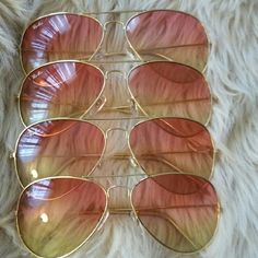 Aviator Sunglasses Pink/Yellow Ombre Ray-Ban Accessories Sunglasses