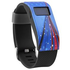 Henoda Band Cover for Fitbit Charge/Fitbit Charge HR Slim Designer Sleeve Protector Accessories (X Flag Collection Black) - http://www.exercisejoy.com/henoda-band-cover-for-fitbit-chargefitbit-charge-hr-slim-designer-sleeve-protector-accessories-x-flag-collection-black/fitness/