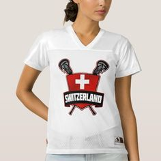 Name & Number #Swiss Lacrosse Jersey | 100% polyester mesh customizable #lacrosse jersey. Easily change the name and number on the back of the jersey. #LAX #Zazzle
