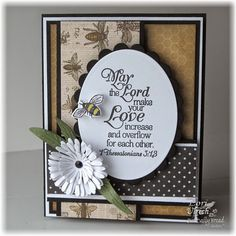 Our Daily Bread Designs' Love Scriptures stamp set, Zinnia stamp set (bee) and coordinating Zinnia and Leaves Die set along with Asters and Leaves Die
