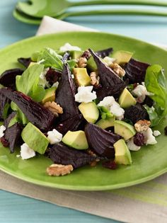 Get Giada De Laurentiis's Beet and Goat Cheese Arugula Salad Recipe from Food Network