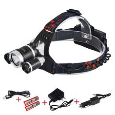 AMASKY(TM) 4 Mode Waterproof Bright Headlight ,with 3 CREE LED Light,for Hiking Camping Riding Fishing Hunting Biking Outdoor Sports -- Find out more details by clicking the item shown here : Camping stuff