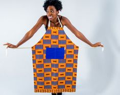 957179fb6b66 Apron - African print apron - kitchen apron - African fabric apron - womens  apron -