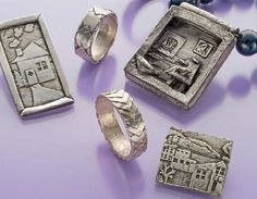 metal clay jewelry making with paper metal clay by Noel Yovovich - from Do You Know These Fun Ways to Use Metal Clay? Weaving, Cheetos, Even Knitting with Metal Clay! Plus 5 Expert Metal Clay Jewelry Making Tips - Jewelry Making Daily