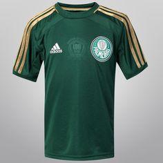 Camisa Adidas Palmeiras I 2014 s/nº Infantil - Mundo Palmeiras