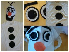 How to Make an Olaf the Snowman Costume #olaf #frozen #disney