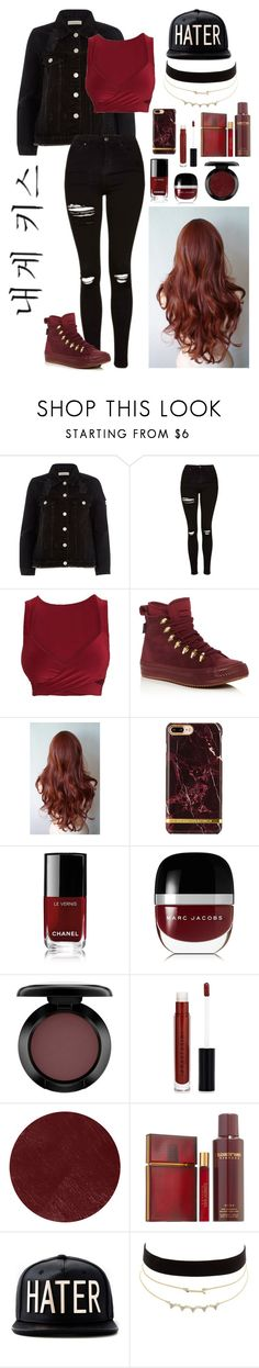 """""""Me beije"""" by laysa-de-oliveira-leite on Polyvore featuring moda, River Island, Topshop, Converse, Chanel, Marc Jacobs, MAC Cosmetics, Anastasia Beverly Hills, Burberry e Elizabeth and James"""