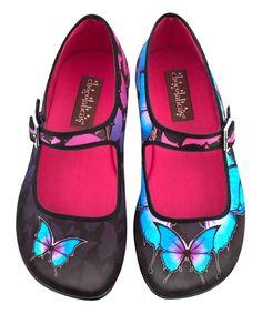 67143291f5b7 Top Chocolaticas® Dark Butterfly Women s Mary Jane Flat