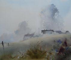 Ilya Ibryaev -Morning fog - watercolor (53х47) cm