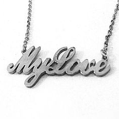 Sterling Silver Handmade Personalized Name Pendant Necklace 45cm Silver Chain