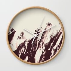 Sea in Winter Wall Clock