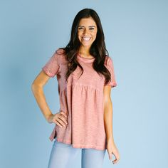 Crosby Dyed Top - Mauve