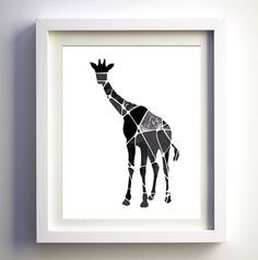 LOVE this geometric giraffe print!