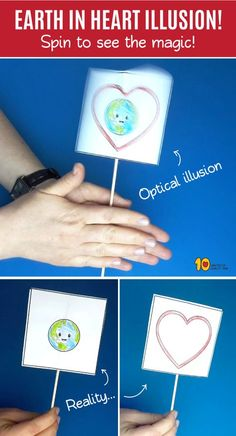 Earth in Heart Optical Illusion