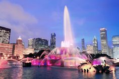 Gaze at the Buckingham fountain at night when it's all lit up. It's one of the biggest fountains in the world, so grab a seat on a nearby bench and watch the beautiful 20-minute light and water show.