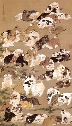 百犬図(伊藤若冲 画)