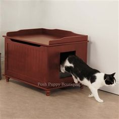 Meow Town Windsor Cat Litter Bench- Cat Litter Box Potty Training - Cat Corner Posh Puppy Boutique