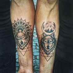 The shapeshifters from the Forged series love their second nature: WOLF. #WolfTattooIdeas