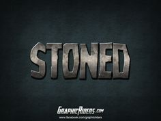 PHOTOSHOP TEXT EFFECT STONED