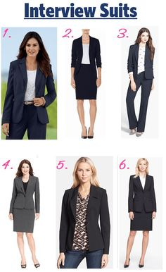 Affordable women's interview suits