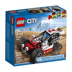 Get behind the wheel and take on the desert with the super-fast LEGO city Buggy. This tough vehicle features an opening roll cage over the seat huge chunky tires and a big engine at the back. Include...